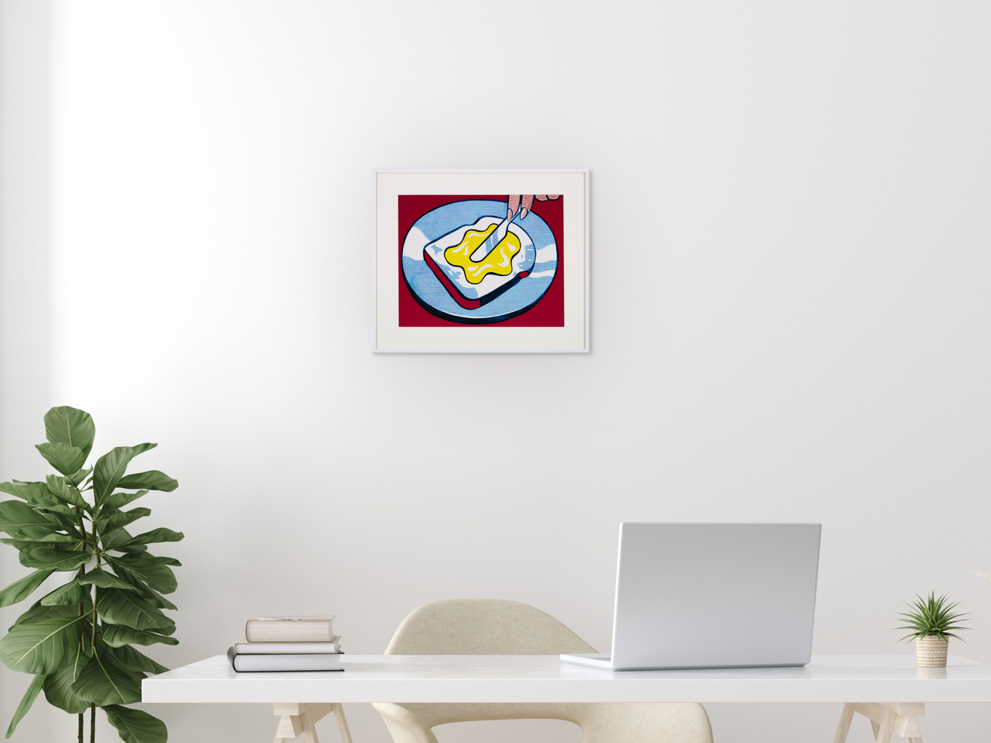 Roy Lichtenstein - Mustard on White 28 X 35.6 Cm Unframed